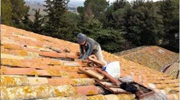 Rénovation du toit de la Tour de Guet