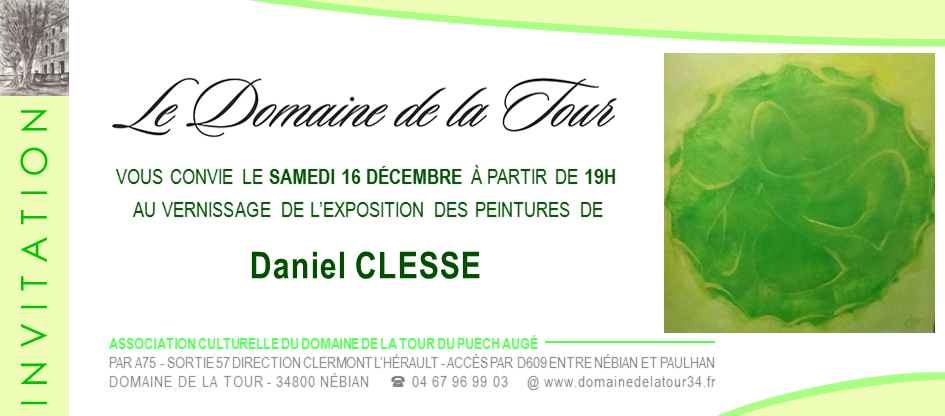 Vernissage de Daniel CLESSE
