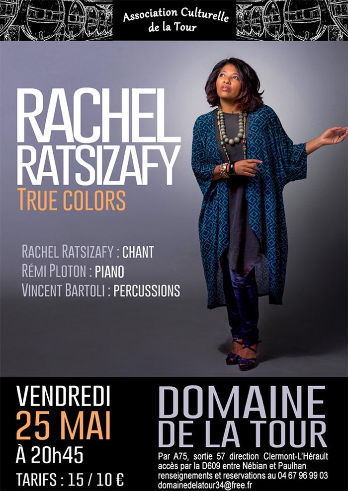 Concert le 25 mai : true colors par Rachel Ratsizafy