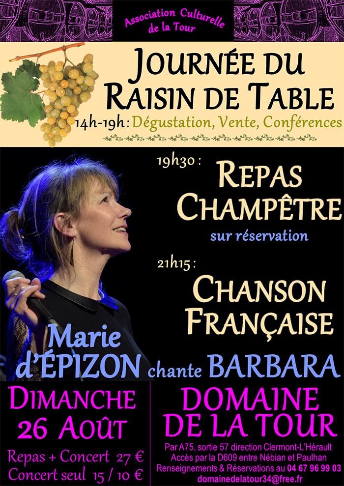 26 août : journée du raisin de table