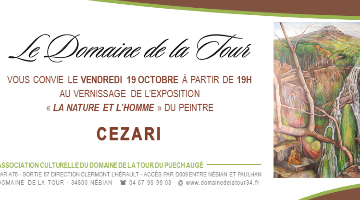Vernissage le 19 octobre