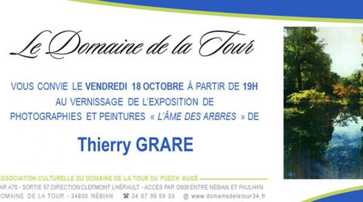 Vernissage photographies et peintures de Thierry Grare le 18 octobre à 19h00