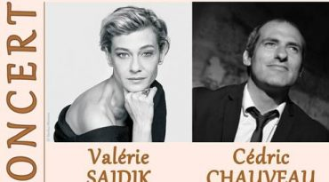 Vendredi 7 février 2020 à 20h45, concert avec Valérie SAJDIK au chant et Cédric CHAUVEAU au piano