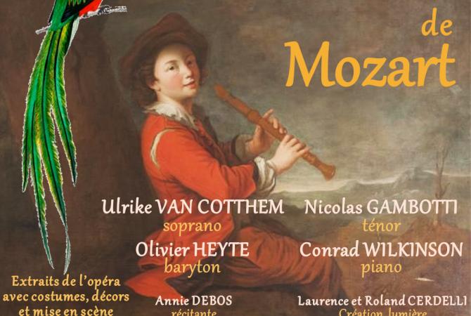 Soirée Opéra avec les plus beaux extraits de la Flûte Enchantée de MOZART, Dimanche 16 août 2020 à 21h15