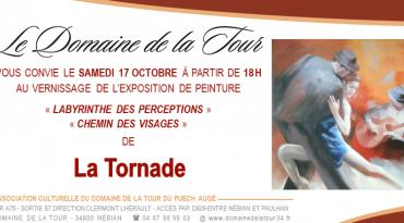 Vernissage le samedi 17 octobre 2020 à 18h00 avec la peintre La Tornade