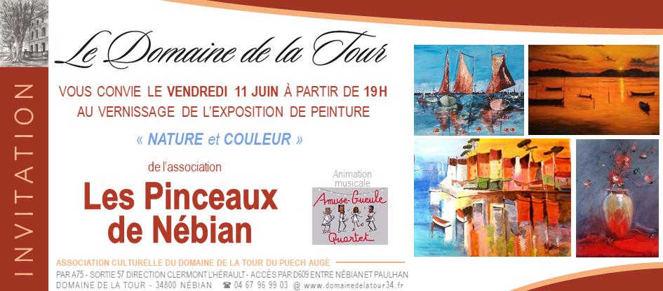 Vernissage le vendredi 11 juin à 19h, les pinceaux de Nébian